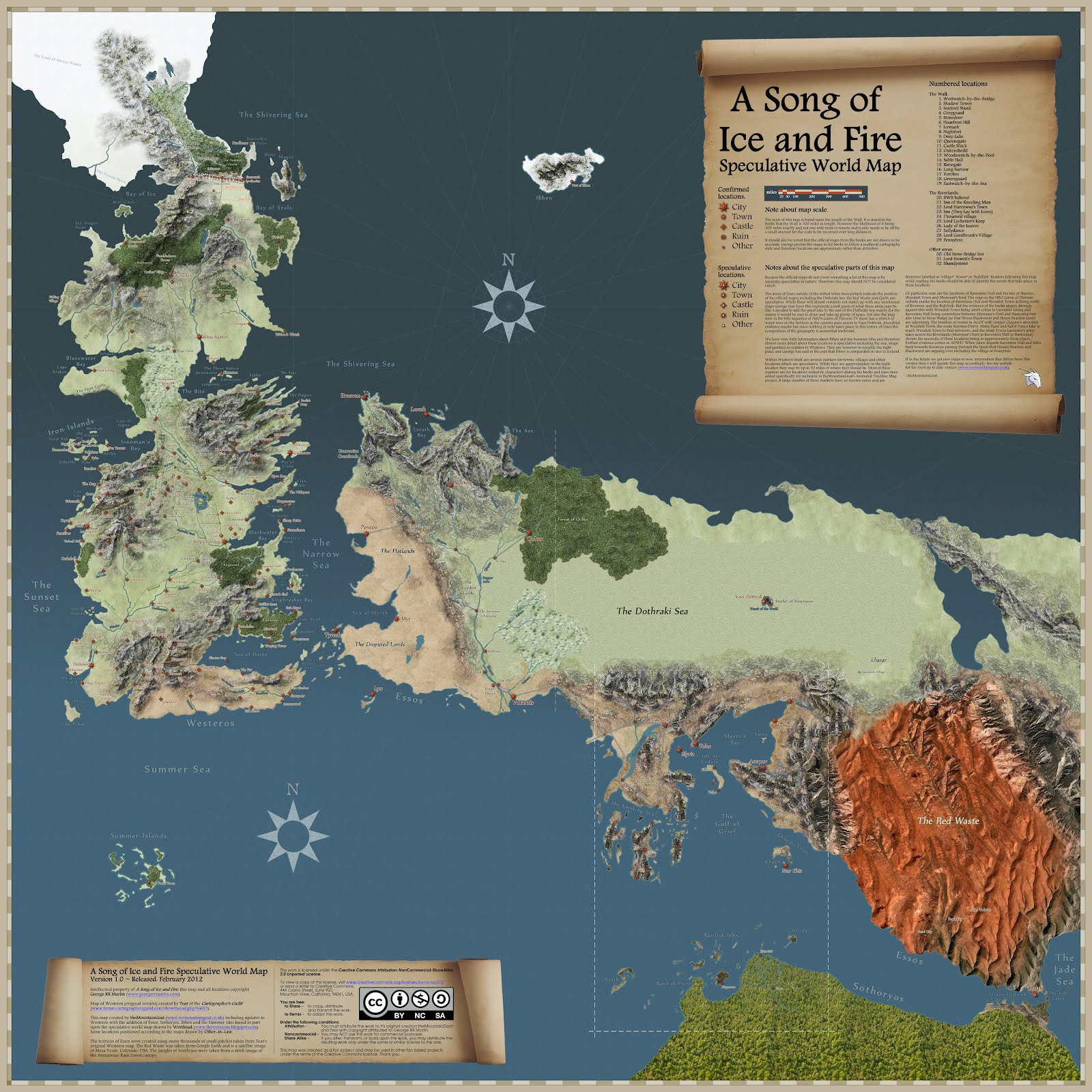song of ice and fire speculative map