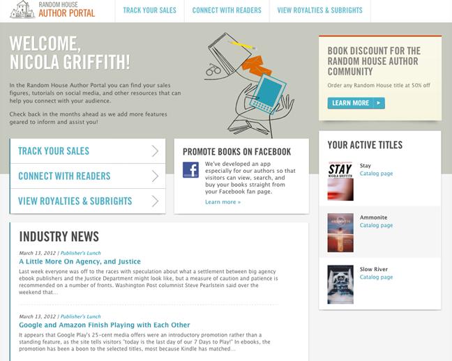 Randomhouse Author Portal | Nicola Griffith