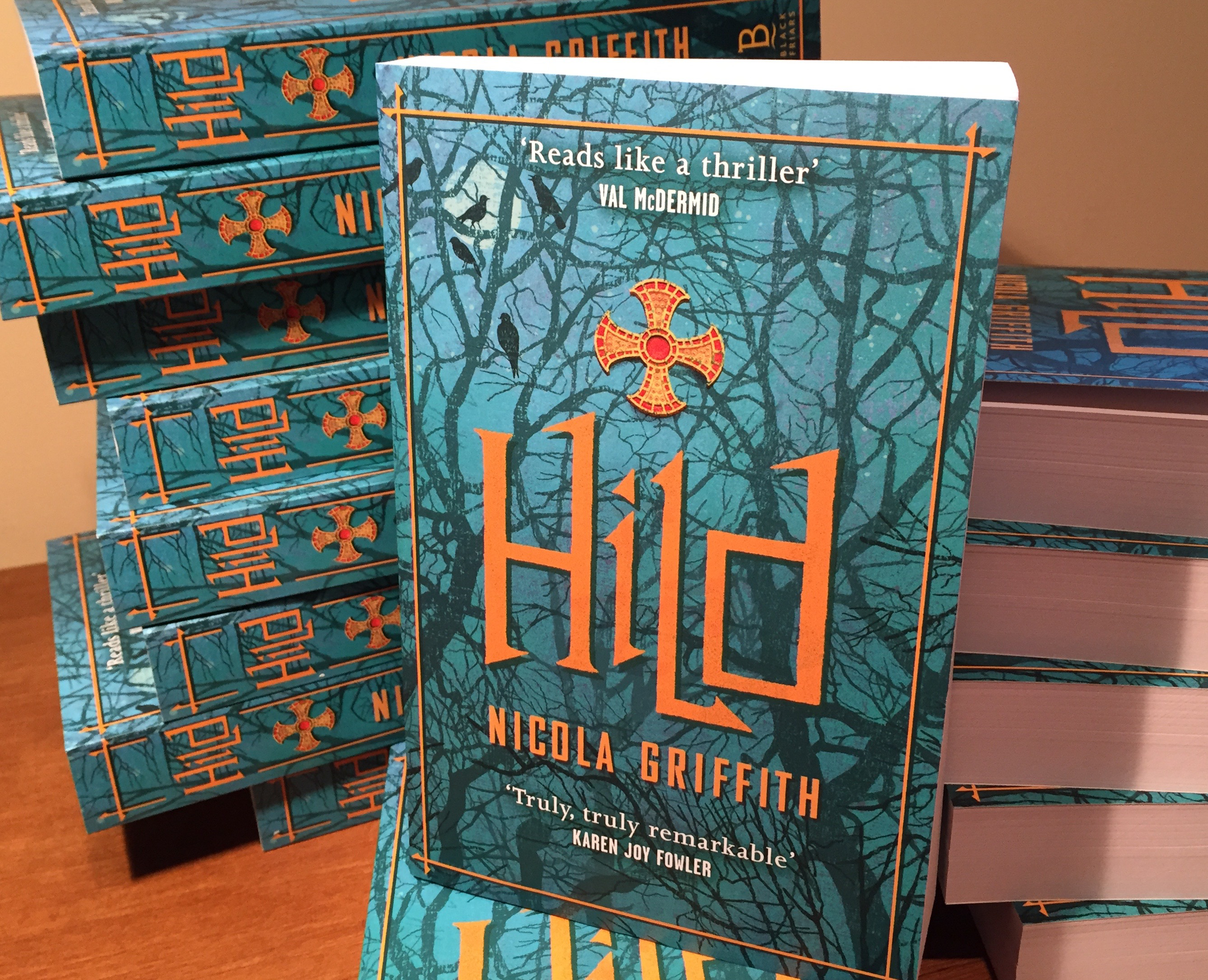 UK edition of the novel Hild, by Nicola Griffith
